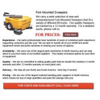 China Fork Mounted Sweepers wholesale
