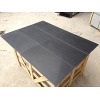 China Marble Honed Surface Black Granite For Indoor Flooring And Wall Tile wholesale