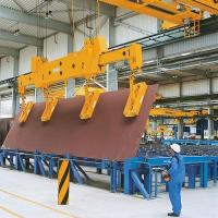 Buy cheap QC 10ton 15ton Magnet EOT Crane for Steel Plate Steel Slab Lifting from wholesalers