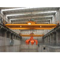 Buy cheap Hydraulic Grab Overhead Crane for Large Mineral Pig Iron Scrap Steel Garbage Iron Powder Handling from wholesalers