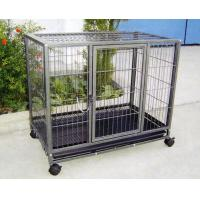 China Pet Dog Cage Steel Pet Cage With Wheels wholesale