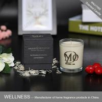 Scented soy candle in glass jar with gold stamping box-WNJ17265