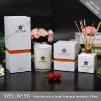 Aroma reed diffuser and scented candle set with rattan stickers-WNT17263