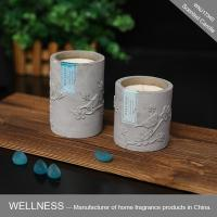 decoration scented candle in concrete holder -WNJ17340