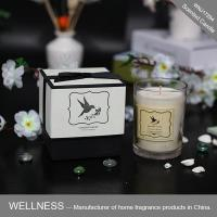 Scented soy candle in glass bottle with gift box-WNJ17294