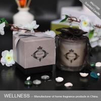 Scented candle in glass jar with gray gift box-WNJ17298