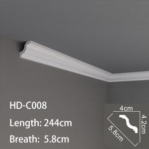 Quality HD-Cor0015 Light Weight pu Profile decoration cornice for sale