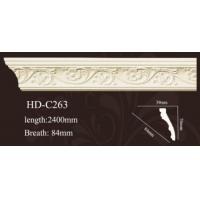 China High quality polyurethane moulding HD-Cor0008 PVC wrap pu Cornice and Crown moulding wholesale