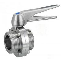 Sanitary Thread Butterfly Valve Trigger Handle Stainless Steel AISI304/316L