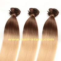 China Human hair weft / extension T-colors clip in hair extension on sale