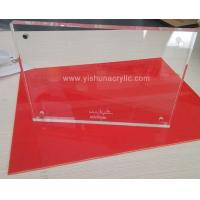 China acrylic picture frame withlaser engraved logo wholesale