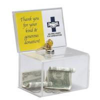 China Transparent name card box, coin collection box The ballot box with lock on sale