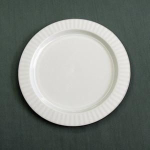 Quality 7inch Plastic Plate with silver rim for sale