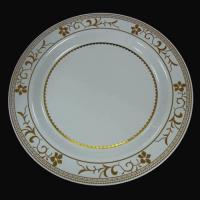 China 9inch Plastic Plate with gold design Item No.: ZJ-509D wholesale