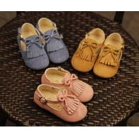 China wholesale pu leather tassel moccasins flat bow discount toddler kids girl dress shoes sale on sale