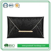 China Womens Fashion Black Sparkly Sequin Evening Envelope Clutch Purse Bag wholesale