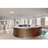 China Unique Tall Reception Desk in Circular Shape with Wood Frame wholesale