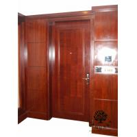 China Commercial Interior Door Modern Style with Solid Pine Wood Core on sale