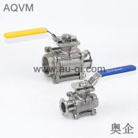 China 3 PIECES BALL VALVE FEMALE THREAD AND CLAMPED END wholesale