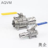 China 3 PIECES BALL VALVE WITH THREAD END AND CAMLOCK COUPLINGS wholesale