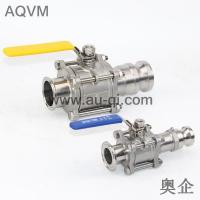 China 3 PCS BALL VALVE WITH CLAMPED END AND CAMLOCK COUPLINGS wholesale