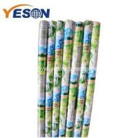 China bright color conspicuous floor broom wooden stick wholesale