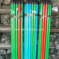 China pvc coated wooden broom handle wholesale