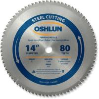 China Oshlun SBF-140080 14-Inch 80 Tooth TCG Saw Blade with 1-Inch Arbor for Mild Steel and Ferrous Metals wholesale
