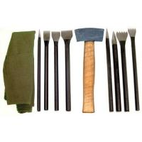 China Stone Carving Set Has 9 Tools In A Convenient Roll-Up Pouch wholesale