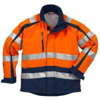 China High Visibility Road Safety Reflective Winter Safety PU Waterproof Jacket with Fleece Inner wholesale