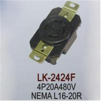 China LK-2424F NEMA L16-20R 20A 480V AC, 3Pole 4Wire Grounding socket, USA Power Wiring Outlet on sale