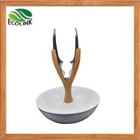 Buy cheap Bamboo Ceramic Walnut Holder/ White Ceramic Nut Cracker Set With Bowl from wholesalers