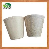 China Bamboo Fiber Nursery Pots Bamboo Fibre Mini Flower Pot wholesale
