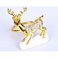 China Newly Design Christmas Deer Napkin Ring, Napkin Ring with Diamond for Hotel wholesale