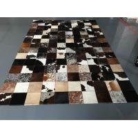 Low MOQ Luxury Cow Leather Carpet Patchwork Rug