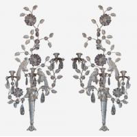 China Large pair of double bird rock crystal 3-light wall lights Stock Number: L240 wholesale