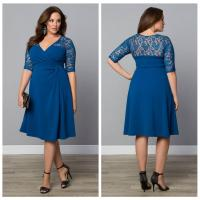 China XXXL Women Plus size Dresses Hollow out Lace sexy club dress on sale