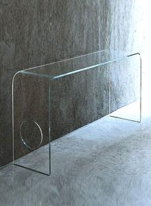 Quality Tables Glas Italia Ming Glass Hall Console Table by Piero Lissoni for sale