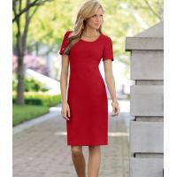 Buy cheap 41108 Short Sleeve Crepe Sheath Dress from wholesalers