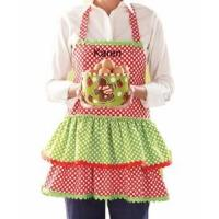 China Monogrammed Christmas Apron - Personalized Holiday Apron on sale