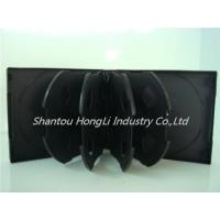 China cd pp multi cases HLMCP28-100 28mm 10disc cd pp case black on sale