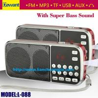 Buy cheap Dewant L-088 portable mini MP3 player FM radio speaker from wholesalers