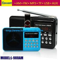 Buy cheap Dewant L-988AM portable mini MP3 player AM FM radio speaker from wholesalers