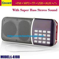 Buy cheap Dewant L-A188 portable mini MP3 player FM radio speaker from wholesalers