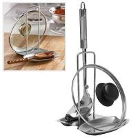 China Modern Stainless Steel Upright Spoon Rest / Pot Lid Holder Tray - MyGift-Spoon Rests wholesale