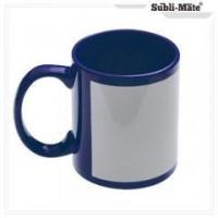 China Ceramic Mugs Subli-Mate 11oz full color ceramic porcelain coffee mug dark blue on sale