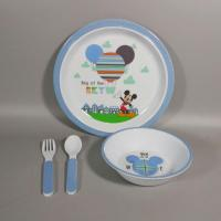 China 3 Piece Plate And Bowls Melamine Children's Dishes Set And Cultery wholesale