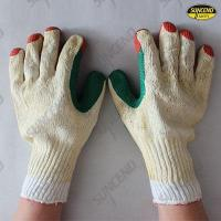 China Double color film rubber coated work gloves wholesale