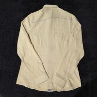 China Beige Ladies Trendy Long Sleeve Button up Embroidered Blouses wholesale