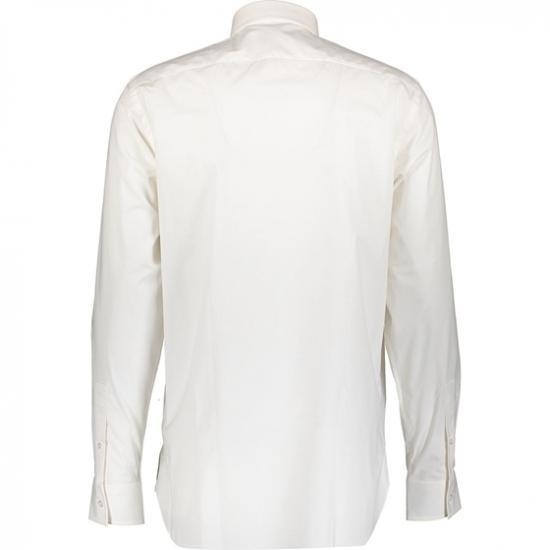Quality White Medium Fit Long Sleeve Shirt Man for sale